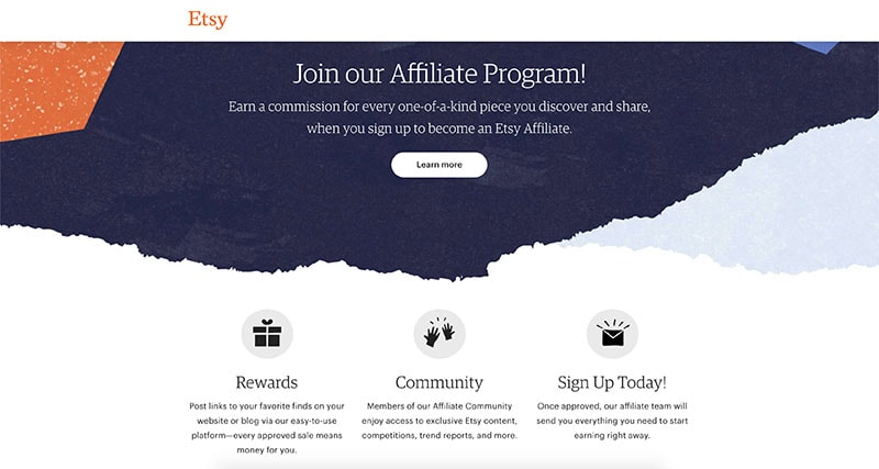 Etsy affiliate programme