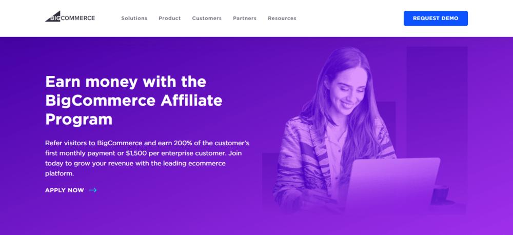 BigCommerce Affiliate Program Landing Page