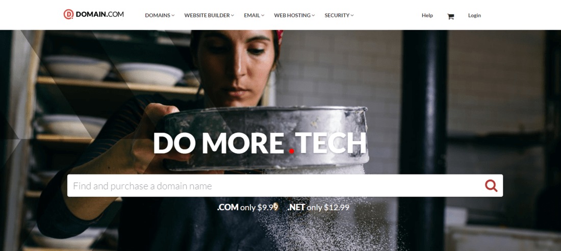Domain.com Web Hosting Landing Page