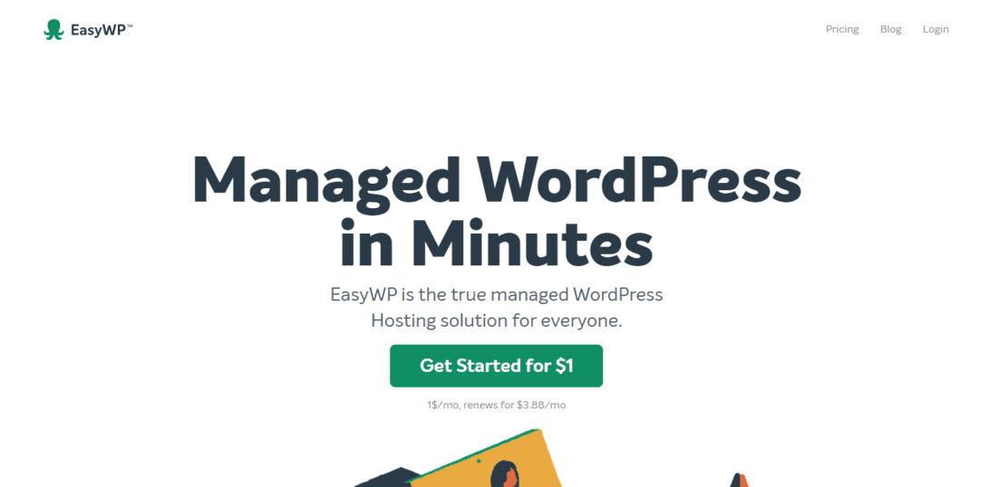 EasyWP Landing Page
