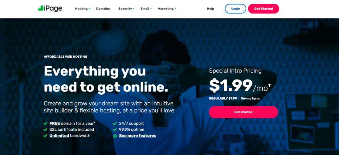 ipage landing page