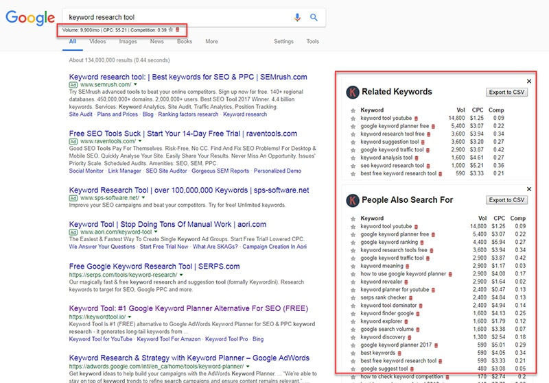 keywords-everywhere-google-search-screenshot