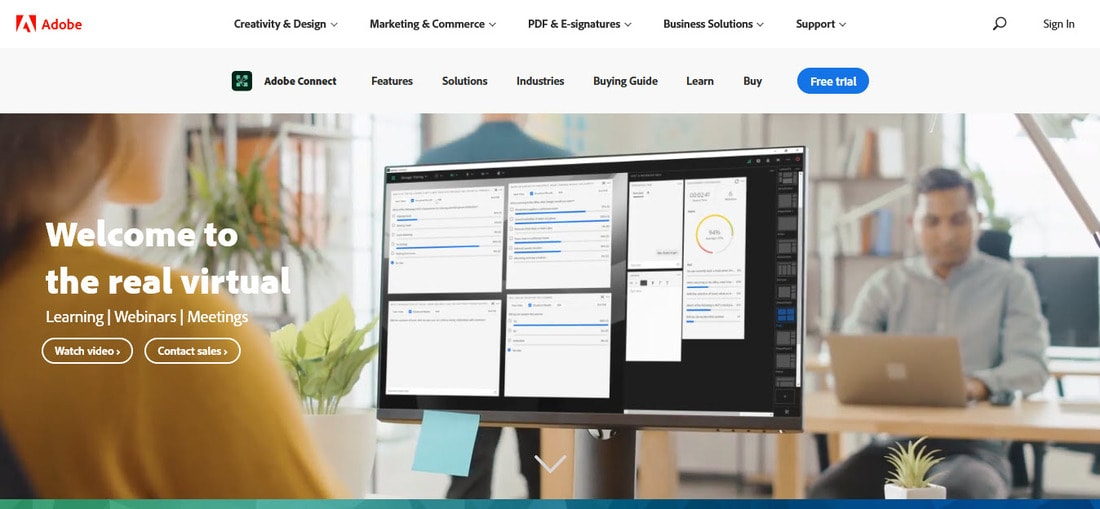adobe connect landing page