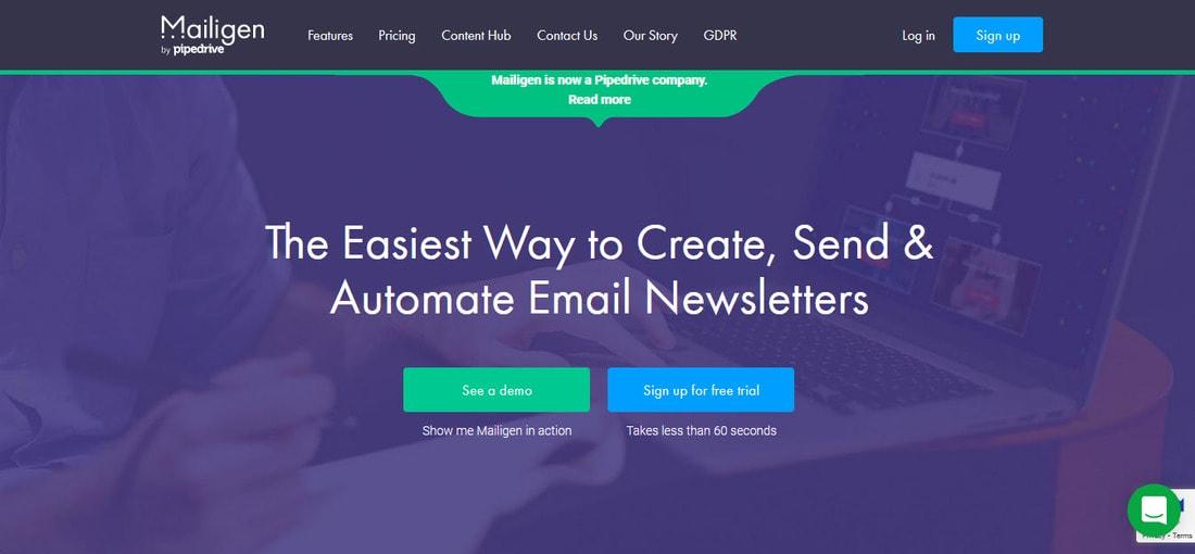 mailigen homepage
