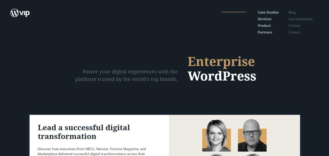 WordPress VIP Landing Page