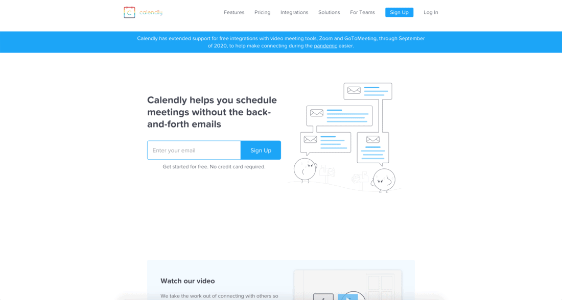 Calendly Landing Page