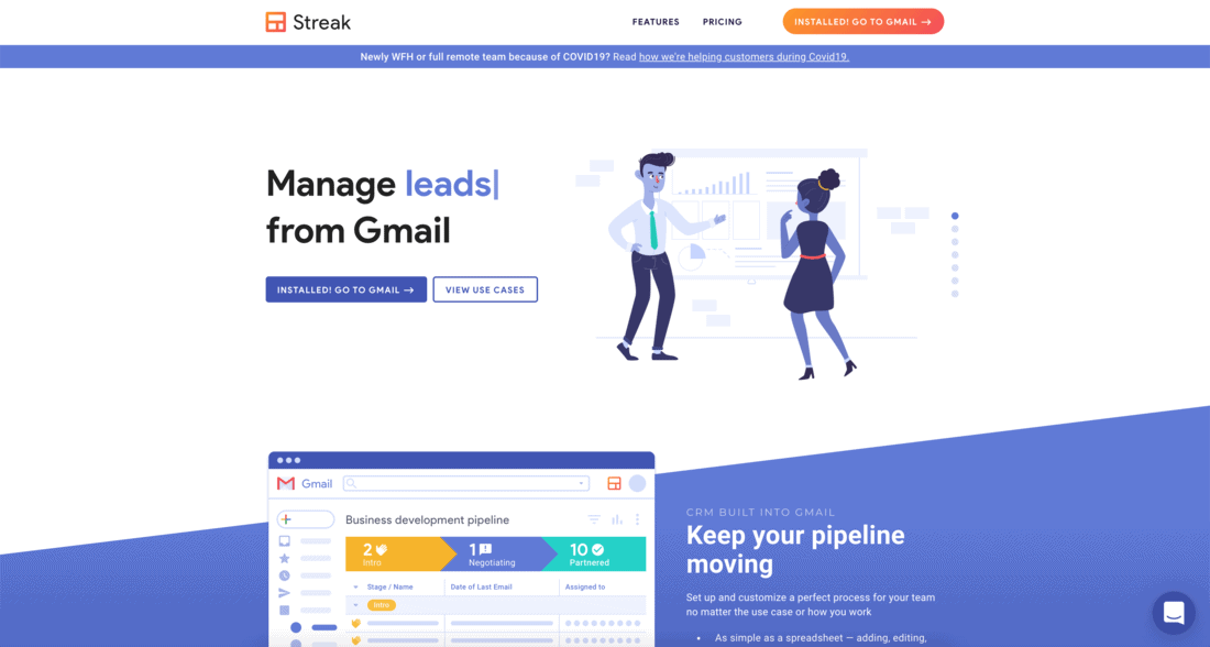 Streak Landing Page