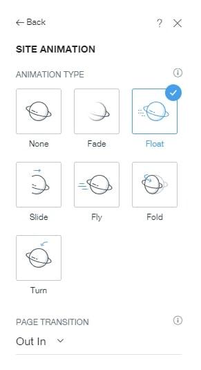 Wix ADI adding animation