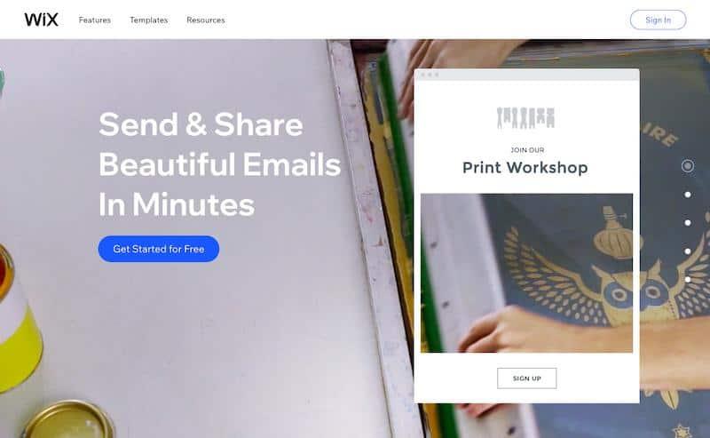 Wix best email marketing services