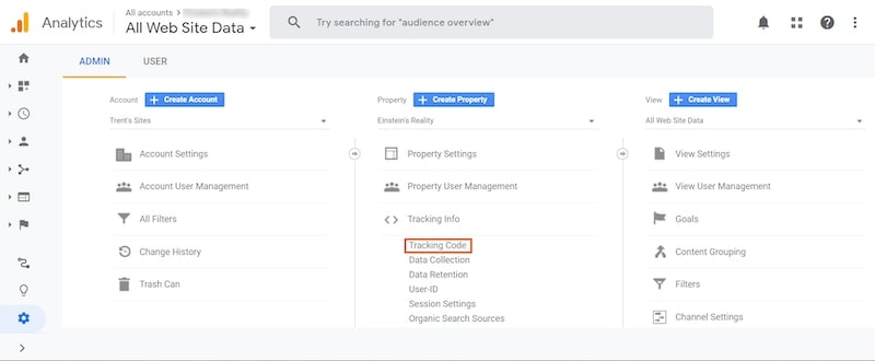 Wix Google Analytics dashboard