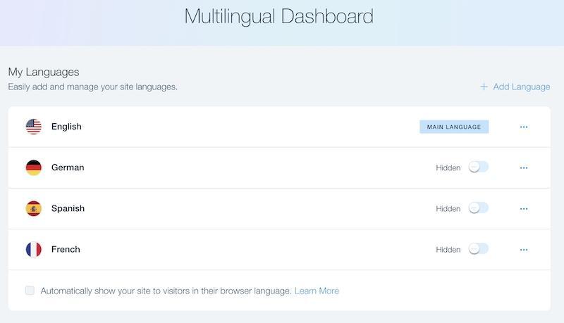 Wix Multilingual