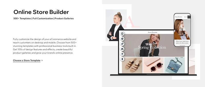 Wix Online Store Builder