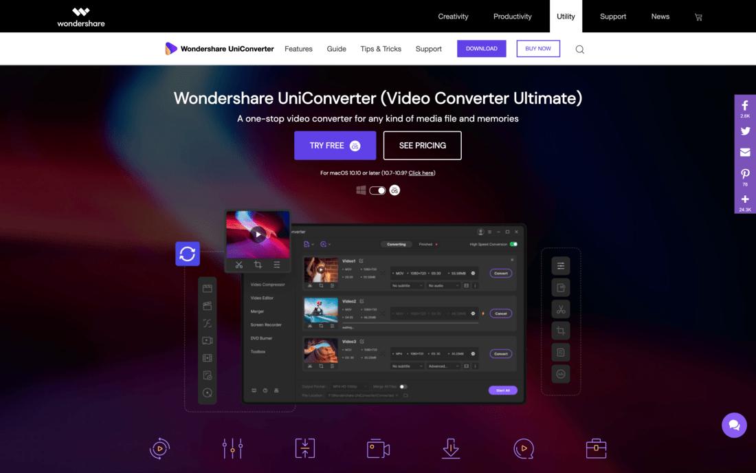 UniConverter - najlepszy konwerter wideo