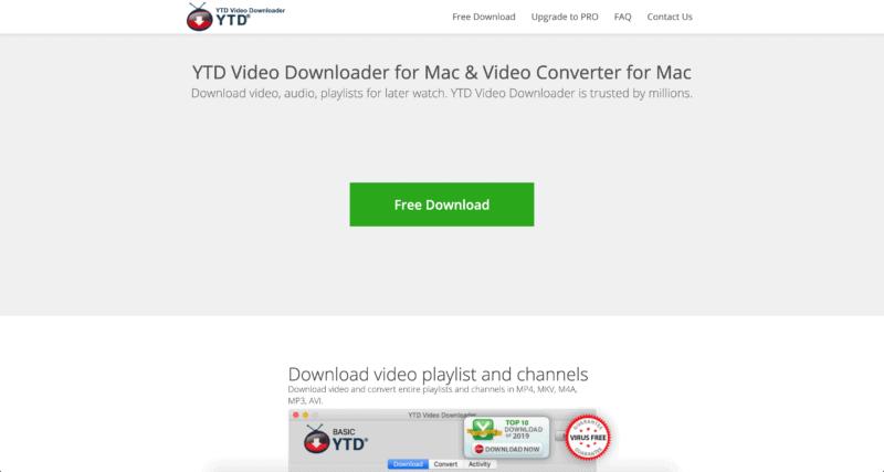 YTD Video konwerter YouTube na MP3