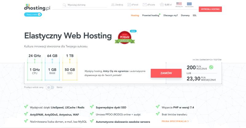 dHosting serwis hostingowy