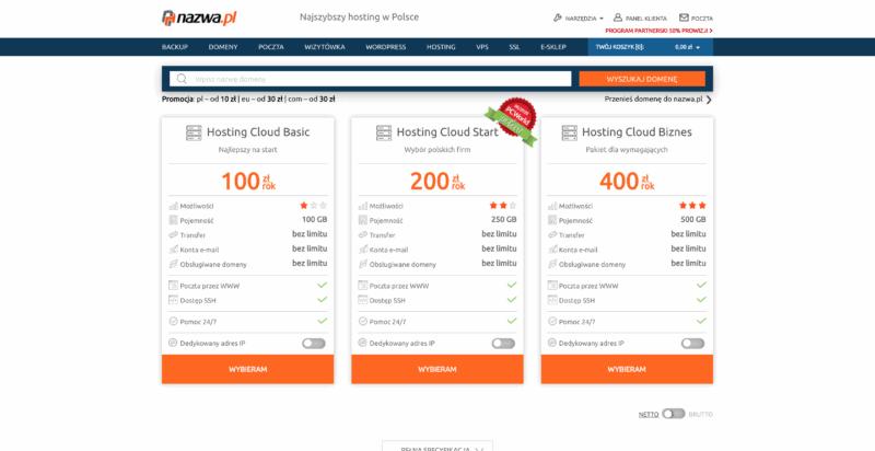 nazwa.pl hosting