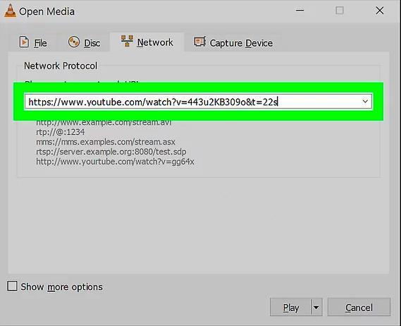 Open Media - VLC Player