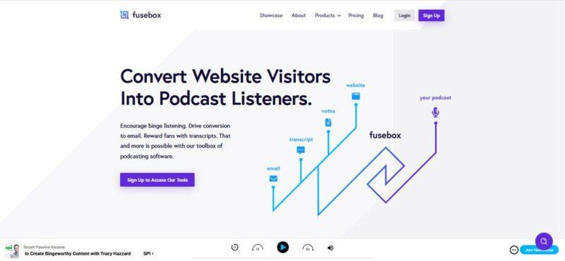 Fusebox - Podcast Hosting Sites