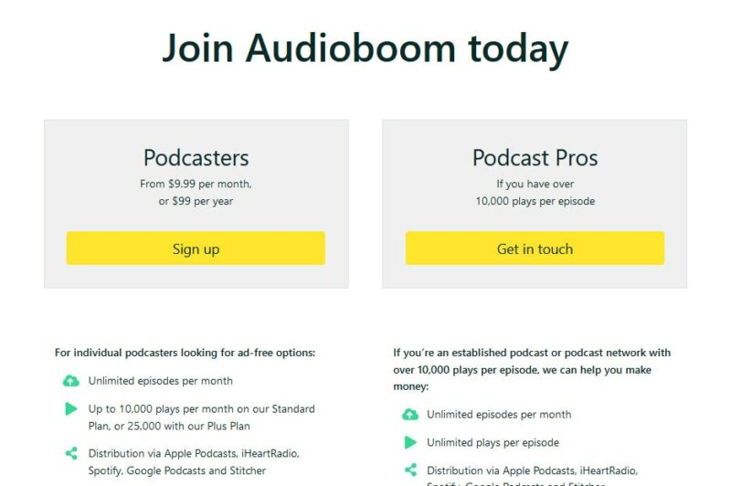 audioboom pricing