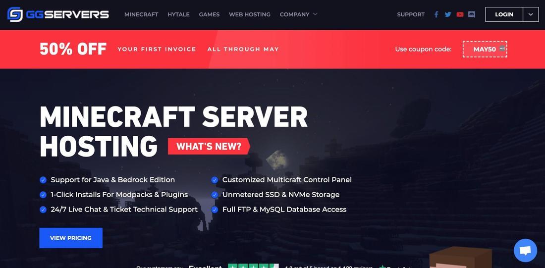 Hosting serwerów Minecraft: ggservers