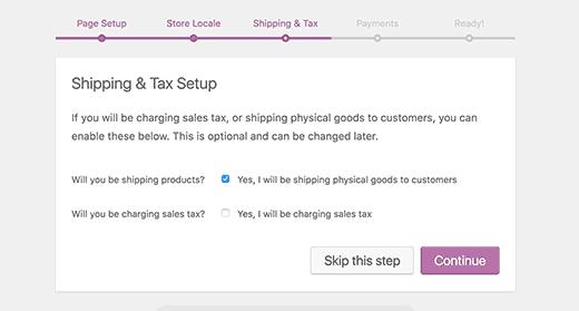 Informacje o wysyłce i podatku WooCommerce