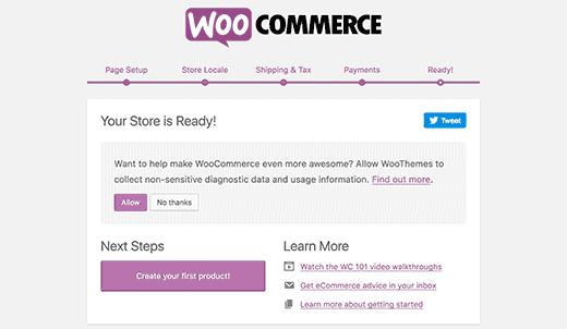 Konfiguracja WooCommerce zakończona