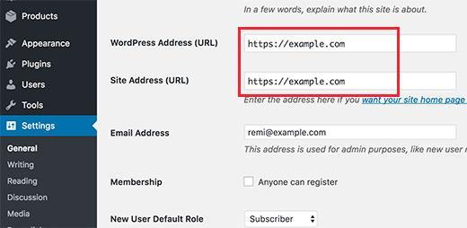 Zmień adres URL WordPress, aby używać HTTPS