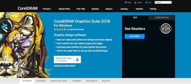 Obraz okładki pakietu CorelDraw Graphics Suite