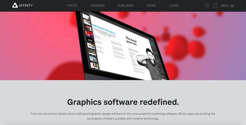Zdjęcie na okładkę oprogramowania graficznego Affinity Designer